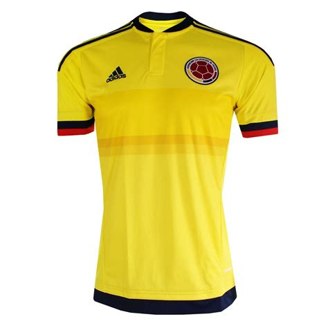soccer jersey adidas colombia youth home 2015 replica soccer jersey bright yellow collegiate navy