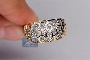 18k two tone gold 1 47 ct womens filigree band ring