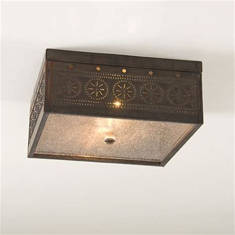 colonial country and primitive ceiling lighting