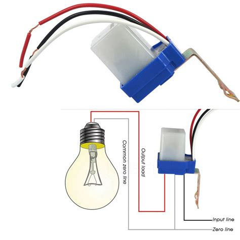 Connect Wiring by Auto On Photocell Day Sensor Light Switch Ac