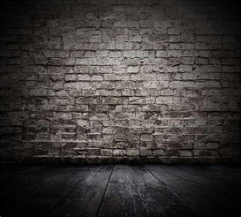 xft dim grey gray bricks wall dark wooden floor custom