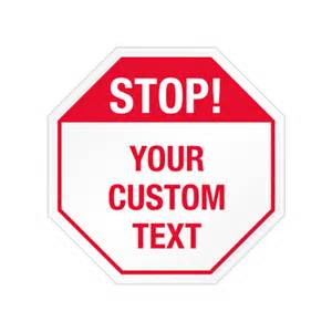 Sign Stop Octagon Template