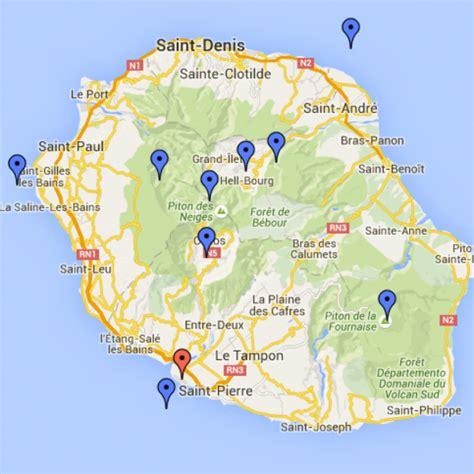 Carte De Touristique Interactive by Carte Touristique De L Ile La Reunion The Best Cart