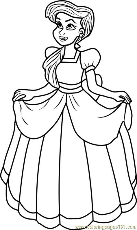 princess melody coloring page  disney princesses coloring pages coloringpagescom