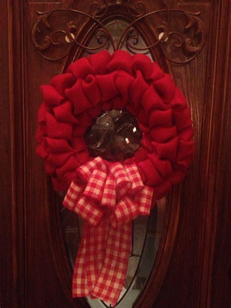 plain wreaths for decorating plain little red burlap wreath decorating wreath ideas pinterest burlap wreaths and craft