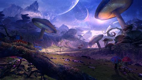 fantasiewelt planet pilze kunstbild  full hd