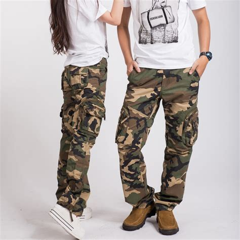 hottest women army fatigue baggy pants cargo pants sports wear mens camouflage cargo trousers  hikingcamping   pants capris  womens