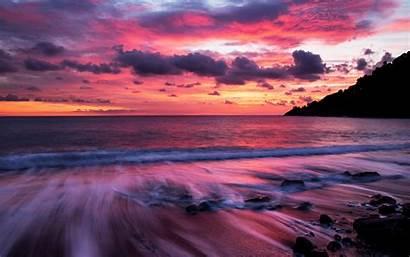 Beach Sunset Sea Clouds Wallpapers Sfondi Desktop