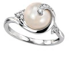 pearl engagement rings gold pearl wedding rings classical and beautiful ipunya
