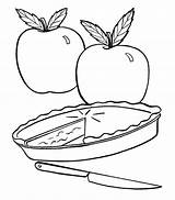 Pie Coloring Pages Apple Fall Pies Colouring Apples Fresh Drawing Cutie Slice Printable Cake Template Cartoon Simple Daycare Craft Action sketch template