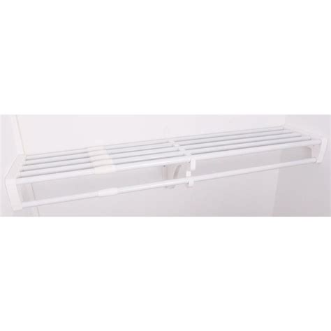 expandable closet rod ez shelf 40 in 73 in expandable large closet rod and
