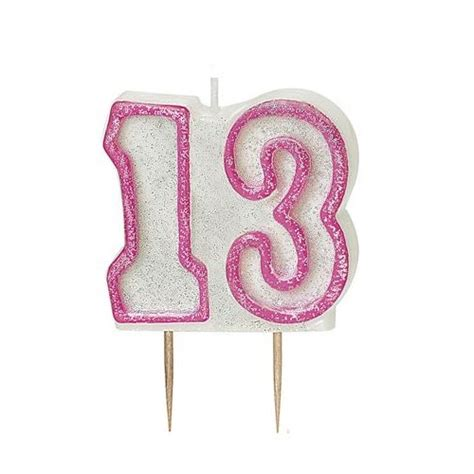pink glitz number  candle  birthday cake candles