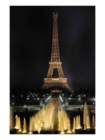 giclee print paris eiffel tower xin  images