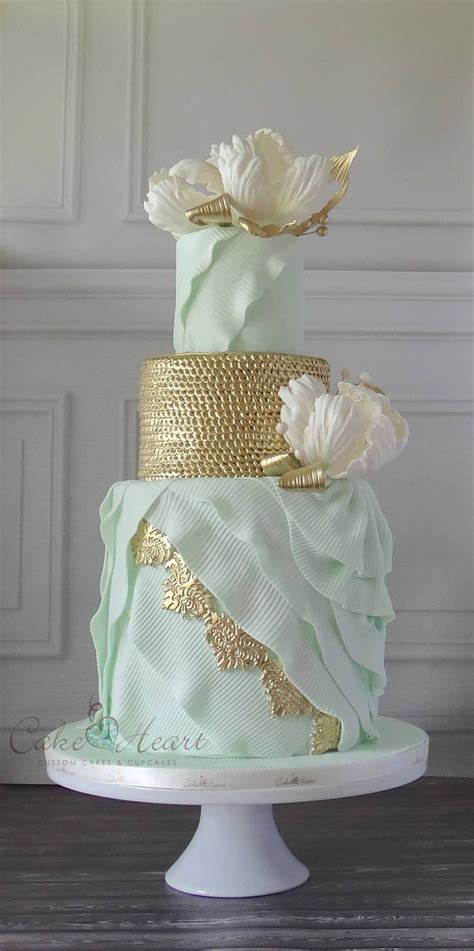 Best 25 Mint Green Cakes Ideas On Pinterest Mint