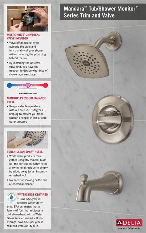 Delta Mandara 8 Faucet by Delta Mandara Single Handle 1 Spray Tub And Shower Faucet