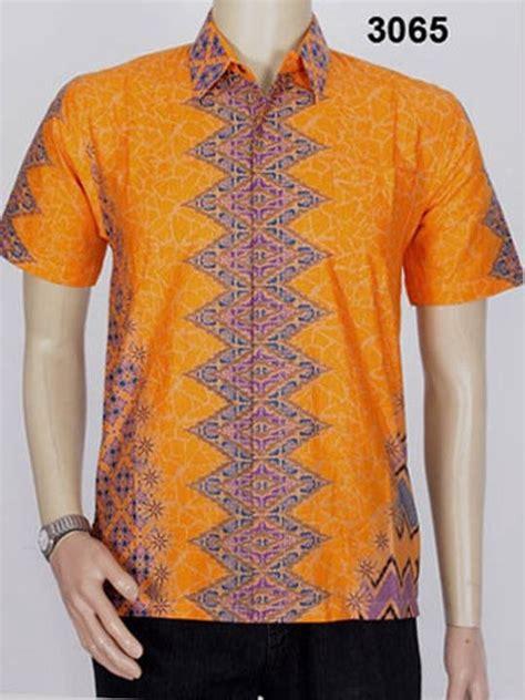 jual baju kemeja batik songket pria 3065 batik pekalongan batik rang rang kombinasi di lapak