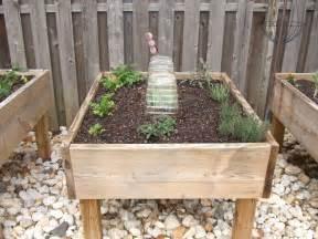 raised garden bed on legs