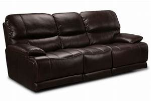 El paso leather reclining sofa at gardner white for Sectional sofas el paso texas