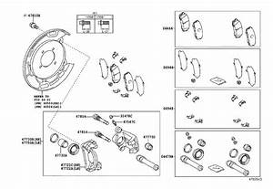2016 Toyota Tundra Pad Kit  Disc Brake  Rear  Brakes