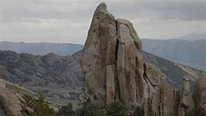 Climbing Skyline  5 8  On Morning Glory Spire In City Of Rocks  Id