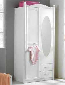 Armoire Chambre Blanche : armoire 2 portes lilly blanc neige ~ Teatrodelosmanantiales.com Idées de Décoration