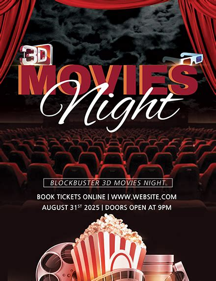 movies night flyer template   flyers