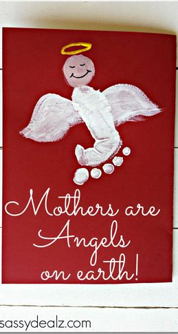 mothers  angels  earth footprint mothers day card