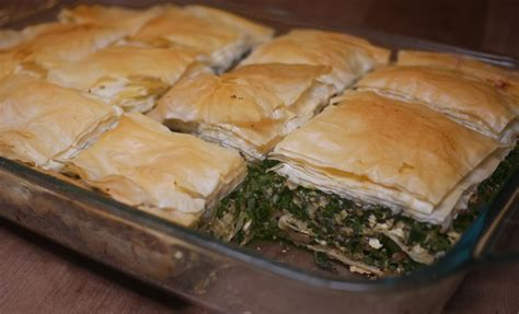 phyllo dough greek spinach pie with phyllo dough preheat to 350
