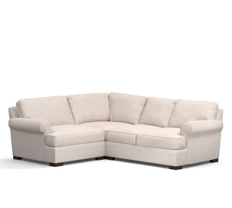 pottery barn townsend sofa townsend upholstered 3 piece sectional with corner