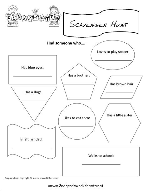 printable back to school worksheets for second grade 2nd