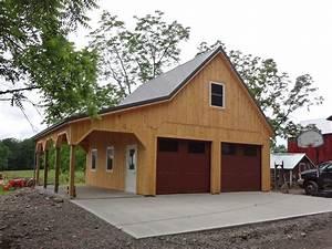 custom built barn style garage With barn looking garage