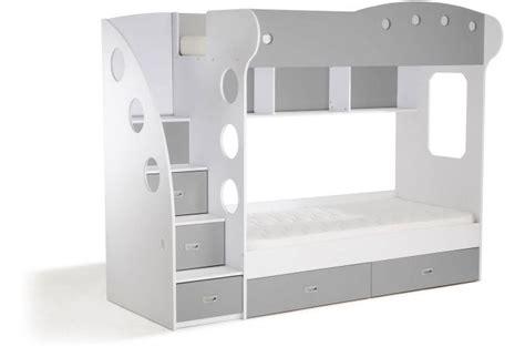 lit combine enfant pas cher lit combin 233 2 couchages blanc gris raphael lit enfant pas cher