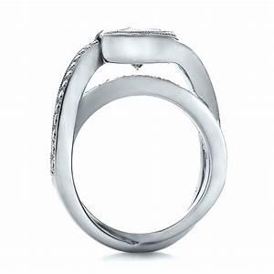 custom interlocking diamond engagement ring 100615 With interlocking wedding rings