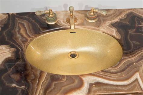 sienna marble vintage bathroom vanity with gold glitter