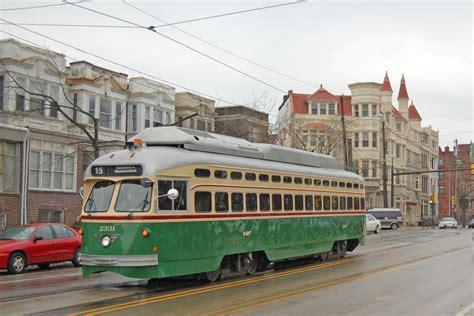 septa top rt 15 trolley 41st parkside avenue city