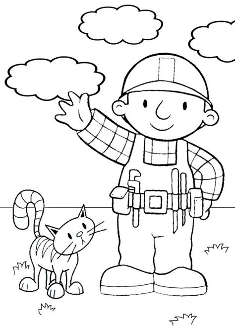 free printable bob the builder coloring pages for