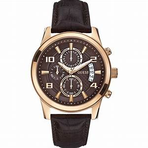 Guess W0076G4 Men's Exec Rose Gold Chronograph Watch ...