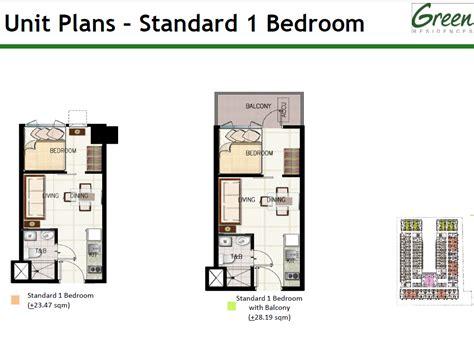 1 Bedroom Unit Rental by Sm Development Corporation Condominium Green Residences