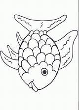 Fish Template Cut Coloring Rainbow Preschool Printables Popular sketch template
