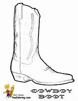 Cowboy Coloring Boots Boot Pages Template Hats Boys Saddle Sketch Yescoloring Colouring Horses sketch template