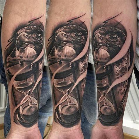 eagle head  hourglass tattoo tattoo geek ideas