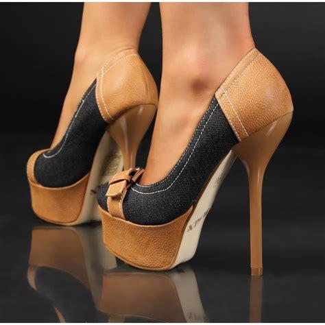 blue heels high heel plateau schuhe 39 95