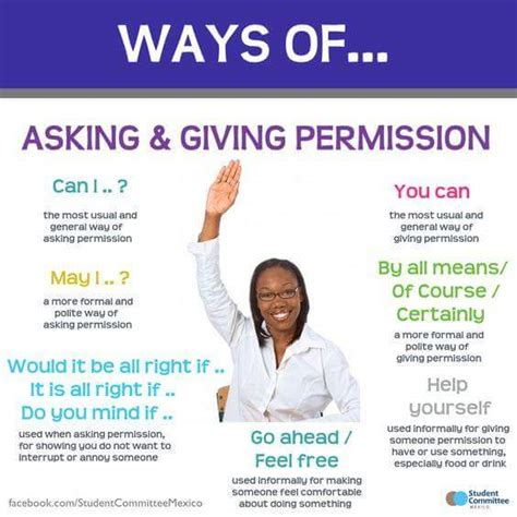 giving permission vocabulary home