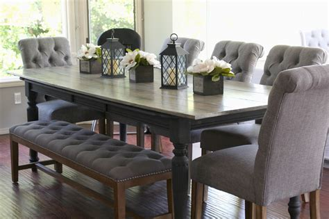 Not sure which dining table to get for your space? Rose & Co Blog: Our 10 person 35 dollar DIY Dining Table