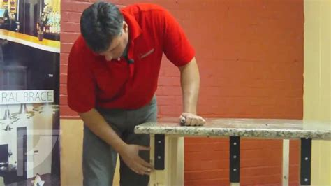 kitchen island brackets how to install freedom countertop brackets for an 1848