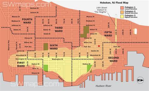 Hoboken Flood Map Post Hurricane Sandy