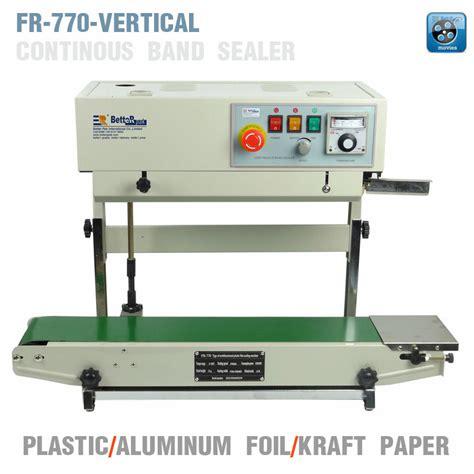 fr  vertical continuous film sealing machineplastic bag package machineband sealervertical