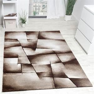 tapis design carrele avec contour moderne fait main marron With tapis exterieur avec canapé design marron