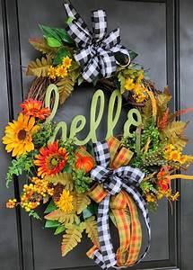 Fall, Door, Wreath, Sunflower, Wreath, Fall, Pumpkin, Wreath, Hello, Wreath, Fall, Front, Door, Wreath
