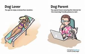 dog lover vs parent illustration kelly angel